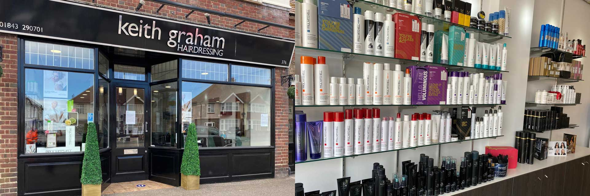 Images of the interior at Keith Graham Hairdressing